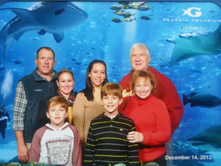 My Family at the Georgia Aquarium